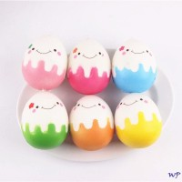 Gantungan kunci squishy telur gambar senyum hijau terla Murah