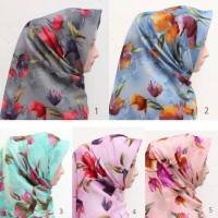 Jual Grosir segiempat motif bunga | hijab square Murah