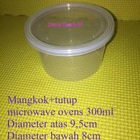 @25pcs MANGKOK + tutup plastik toples box cup 300ML microwave ovens