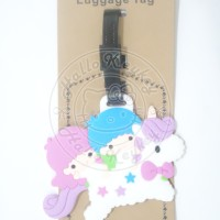 nametag / tag koper little twin star unicorn