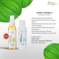 Green Angelica Combo 2 Paket Rambut Rontok Ketombe dan Menipis Parah