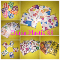 @100lbar oval motif 10x14cm kantong plastik hd oval handle motif mini