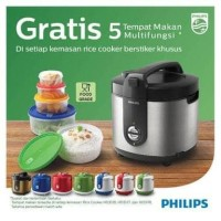 Jual PHILIPS Rice Cooker 2 L New Stainless HD3128 - Silver Murah
