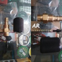 Kupler Jantan Mini Mikro Drat Luar Lengkap + Pentil Teplon dan Per