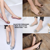 Jual SALVATORE FERRAGAMO FLAT JELLY SHOES T 001 Murah
