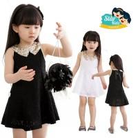 Jual dress/baju pesta putih/hitam emas anak perempuan import starkids Murah