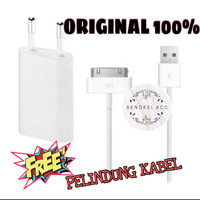 charger kabel iphone 4/4s original bergaransi
