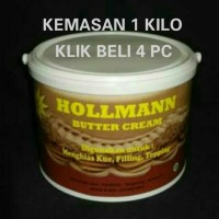 Hollman Buttercream siap pakai Butter Cream Ready Use repack 250 gram
