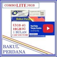 Kartu Sakti Perdana Internet XL COMBO LITE 31GB FREE PULSA YOUTUBE