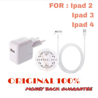 BATOK CHARGER IPAD 2 3 4 (10 WATT) 100% ORIGINAL