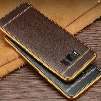 Samsung Galaxy S6 Edge Luxury Litchi Leather Case Softcase Cover