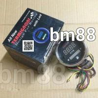 Tachometer + Fuel Meter (2in1)   RPM + Ampere Bensin Termignoni