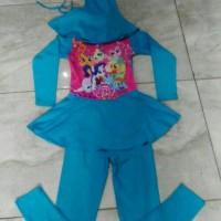 Jual Baju Renang Anak SD muslim little pony biru Murah
