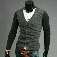 Jual Sweater cardigan pria cotton rajut Murah