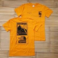 Kaos T-Shirt Supreme The North Face Steep Tech Yellow