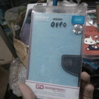 dompet flip case hp oppo find way s u707 sarung case