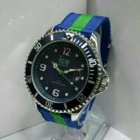 jam tangan pria wanita ice watch kanvas biru hijau biru