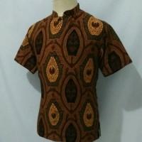 Jual kemeja batik pria baju batik cowok krah koko shanghai prismisima 3e Murah