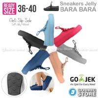 Jual Bara Bara Sepatu Jelly Sneakers Silikon Shoes Cewek Silicone Kets 6382 Murah