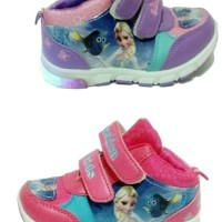 Jual sepatu anak frozen HIGH lampu led import Murah