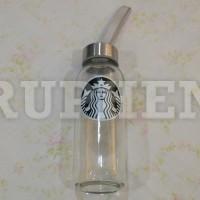 Starbucks Botol Minum / Botol Kaca / Tumbler Kaca 300ml