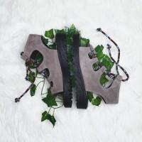 Sandal Wedges Wanita Fav Gladian Grey - Fav Shoes