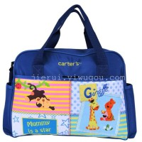 CARTER'S DIAPER BAG MONKEY GIRAFFE BLUE (MOMMY IS A STAR)