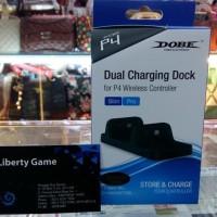 Jual PS4 DUAL CHARGING DOCK (DOBE) FOR PS4 SLIM / PRO  Murah