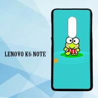 CASING Lenovo K6 Note wallpaper keroppi X4338