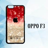 Casing Hardcase HP Oppo F3 Red And Silver X3899
