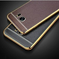 Samsung Galaxy S7 Edge S7Edge Soft TPU Leather Back Cover Case