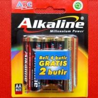 Baterai ABC Alkaline AA / A2 isi 6