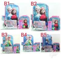 Jual tas troli anak frozen 3d 3 dimensi 5 in 1 import troli tas sekolah Murah