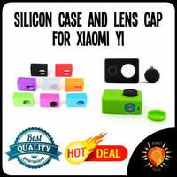 Jual Silicon / Silicone / Silikon Case and Lens Cap for Xiaomi Yi Murah