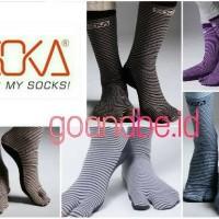Kaos kaki Soka Essentials Stripe - Soka Jempol Pendek Motif