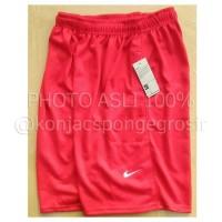 Jual Nike plain merah lotto, jual Celana pendek kolor bola futsal basket Murah