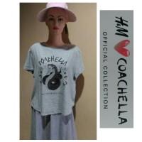 H&M Tshirt Crop Coachella Snake Valley Music And Arts Festival