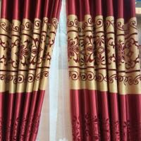 Jual hordeng gorden import itachi merah Murah