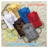 Set Peci Baju Muslim Koko Romper Bayi baby romper bayi fashion