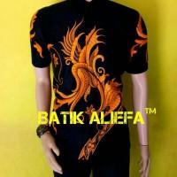 Kemeja Hem Batik Pria Merak Kuning Trand Fashion Pekalongan Ekslusive