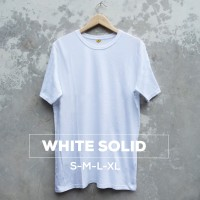 Jual Baju Kaos Polos Oblong Bandung White Pria wanita Putih Murah