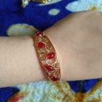 gelang gold xuping ad varasi merah