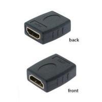 Sambungan HDMI female to female barrel coupler gender changer