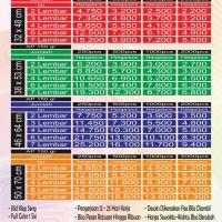 Cetak Kalender Kertas Art paper 150 gr Uk. ada di gambar