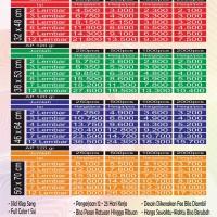 Cetak Kalender Kertas Art Paper 120 gr Full Color 1 Sisi