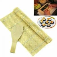 sudare rolling sushi mat gilingan sushi sushiroller dilengkapi centong