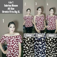 Baju Wanita Model Sabrina Blouse All Size fit XL