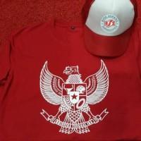 Kaos Indonesia x Topi Logo BSI (kaos BSI)