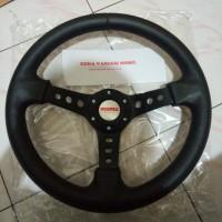 Stir Setir Steer Racing Model Sparco Momo Hitam Black Berkualitas