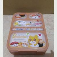 Jual Tempat makan 4 sekat Yooyee 17x23x4 cm BPA free Murah